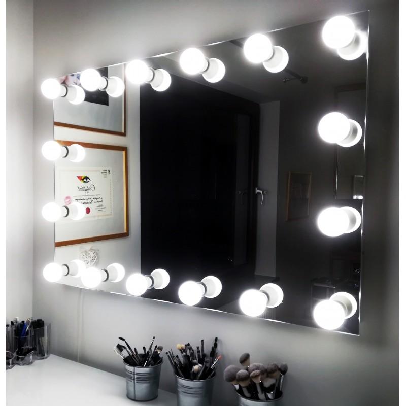120x100 Cm Lustro Do Makijażu Wizażu Salonu Kosmetycznego
